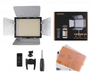 Bi-Color-Yongnuo-YN300-III-yn-lIl-3200-K-5500-K-Pro-LED-torche-vidéo-pour